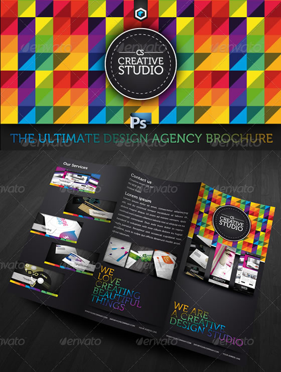 Creative Tri-fold Brochure Design Templates - studio brochure