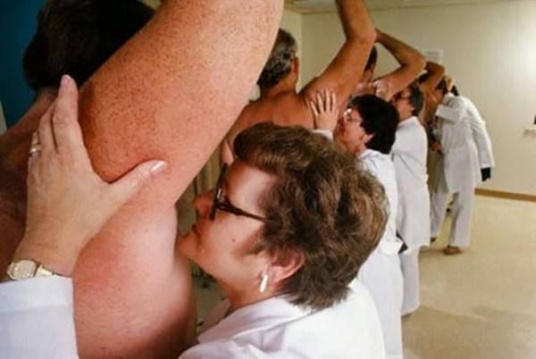 Scientists testing deodorant quality - the hard way