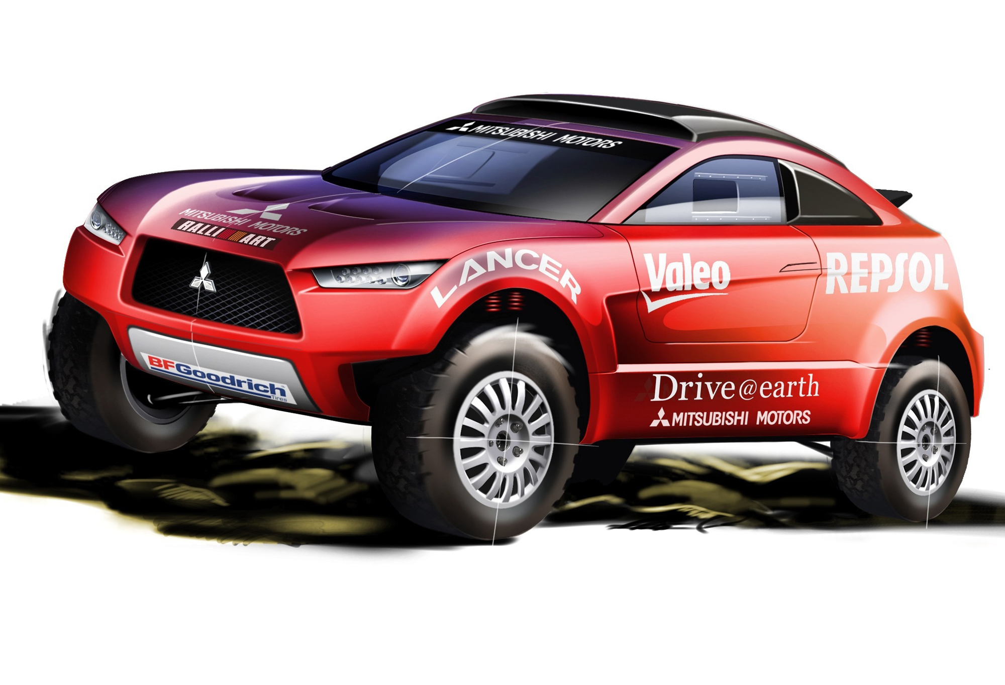 Cuv Car Crossing Over Mitsubishi To Run New Racing Cuv In 2009 Dakar