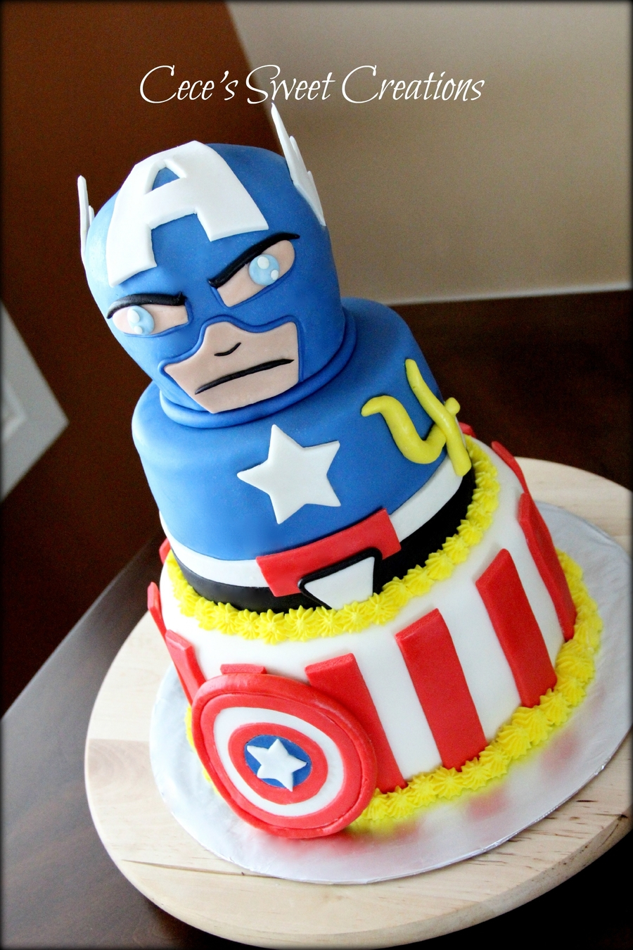 Captain America Kuchen Captain America Birthday Cake Captain America Birthday Cake