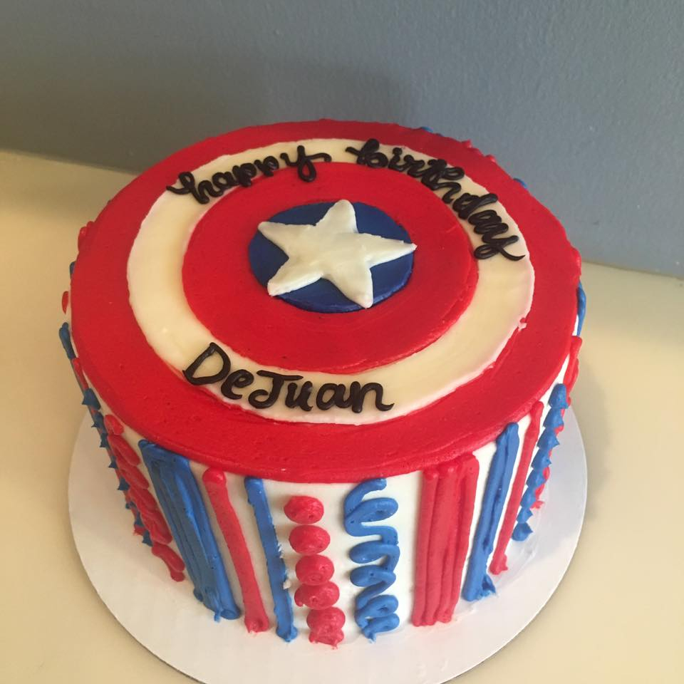 Captain America Kuchen Captain America Birthday Cake Captain America Shield Cake Hayley