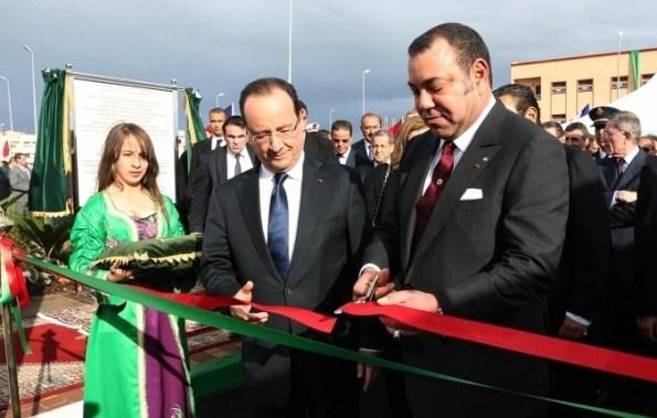 Hollande junto a Mohamed VI en Casablanca. / Elysee