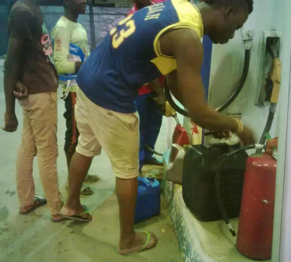 A typical situation in fuel stations across Nigeria
