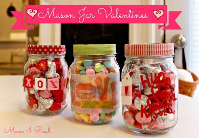 mason jars hari valentine