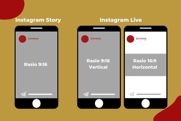 Ukuran Postingan Instagram Story dan Instagram Live