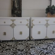 white & gold cabinets