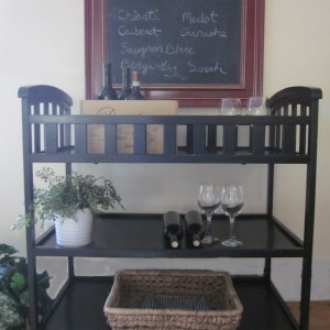 Changing Tables, Bar Carts & The Perfect Black Paint