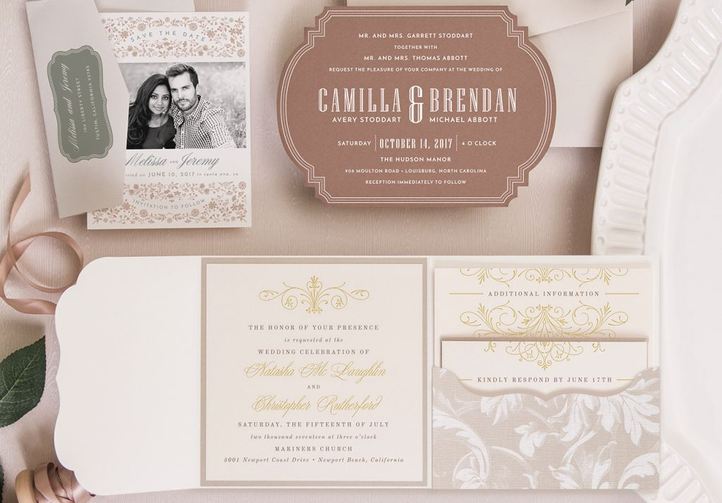 EnvelopMe - DIY  Custom Printed Pocket Fold Invitations