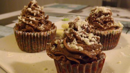Crema de chocolate rápida para Cupcakes y Tartas