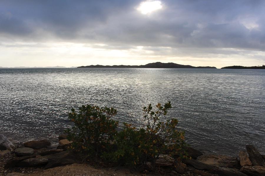 La pointe nord avec en face les îles Bélep