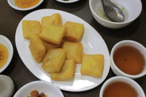 Tofu frit.