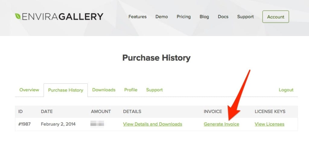 How to Create an Invoice in Envira Gallery