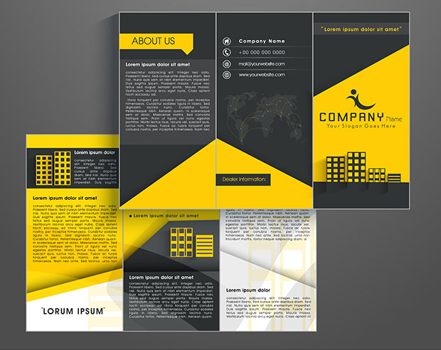How to Create a Brochure Template in Photoshop - sample broucher