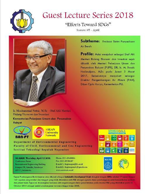 Guest Lecture Series 2018 Session #5-Evaluasi Sistim Penyediaan Air Bersih
