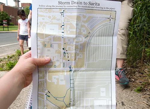 Sarita Storage Drain Map
