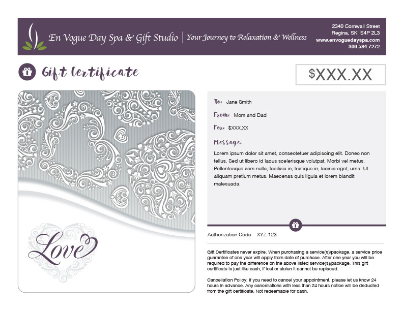 Monthly Features En Vogue Day Spa  Gift Studio