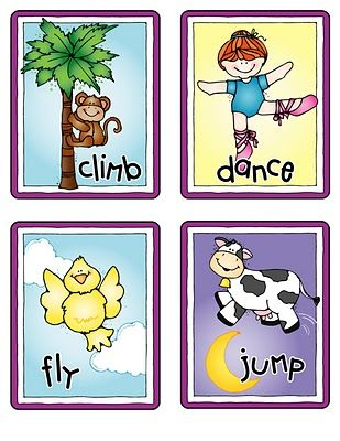 Action Word Flash Card - Educational Equipments Wholesale Dealers