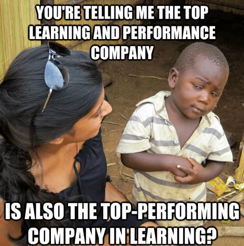Top Learning Organization 2013 Meme