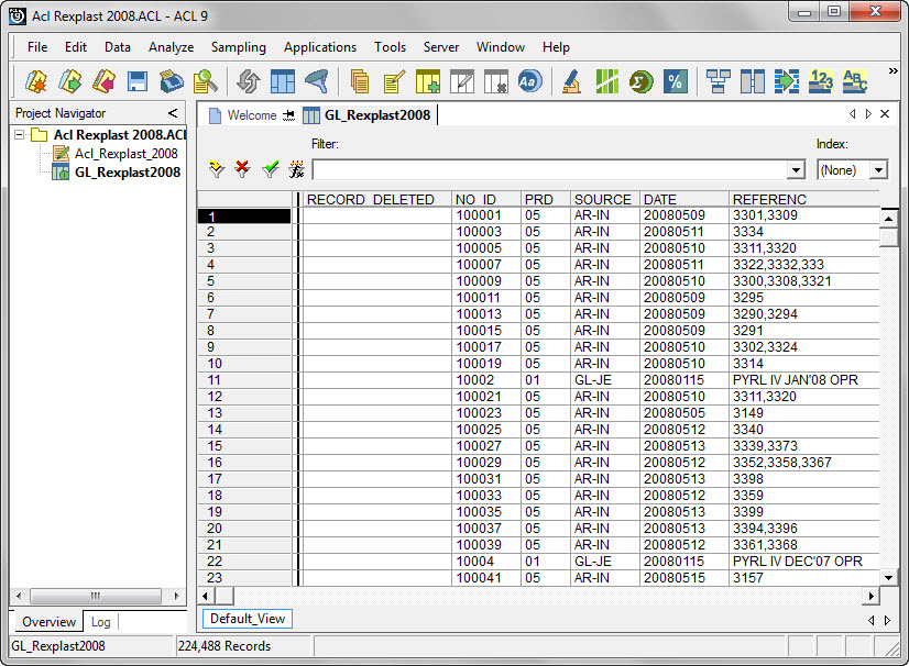 Interface Excel 2007 dan Software audit lainnya