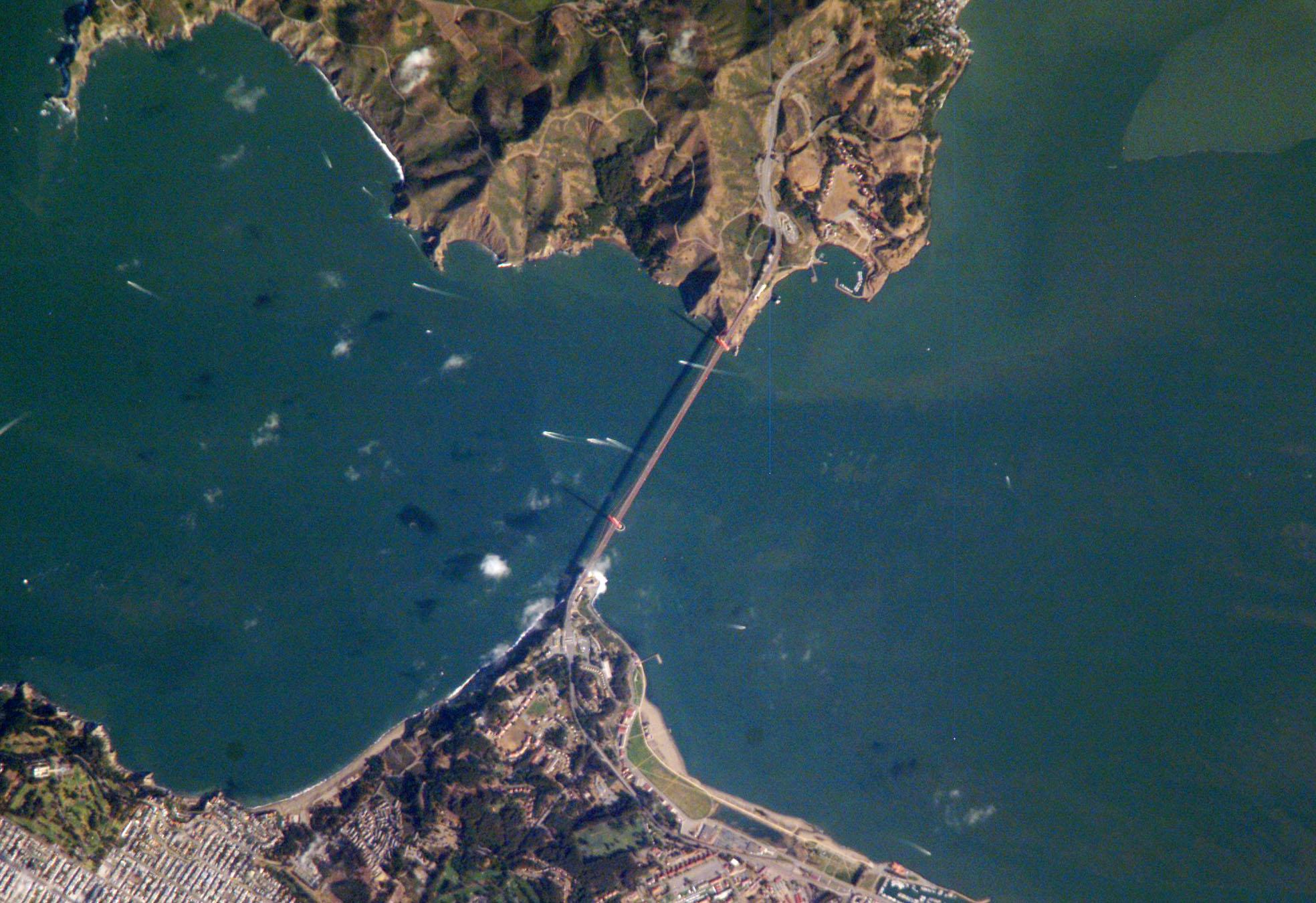 Iss Hd Wallpaper Nasa Visible Earth Golden Gate San Francisco California