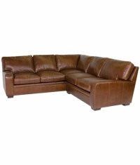 Leather Contemporary 8 Way Hand Tied Sectional Sofa | Club ...
