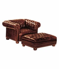 Tufted Leather Chesterfield Club Chair With Nail head Trim ...