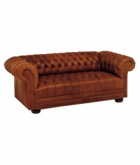 Chesterfield Tufted Leather Sofa | Club Furniture