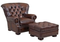 Large Tufted Back Leather Club Chair | Club Furniture
