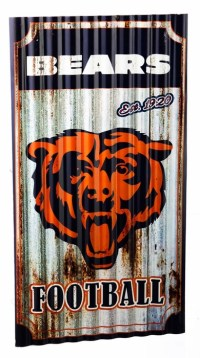 Chicago Bears Corrugated Metal Wall Art