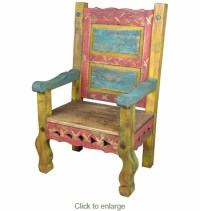Painted Wood Captains Arm Chair