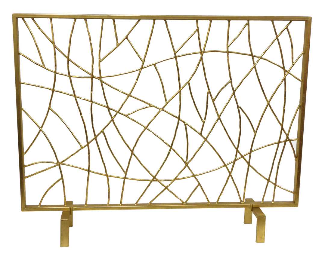 Fireplace Screens Tree Design Dessau Home Gold Twig Fire Screen