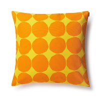 Marimekko Pienet Kivet Yellow / Orange Throw Pillow