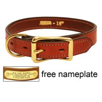 3/4 in. Mendota Hunt Dog Leather D-End Puppy / Small Dog ...