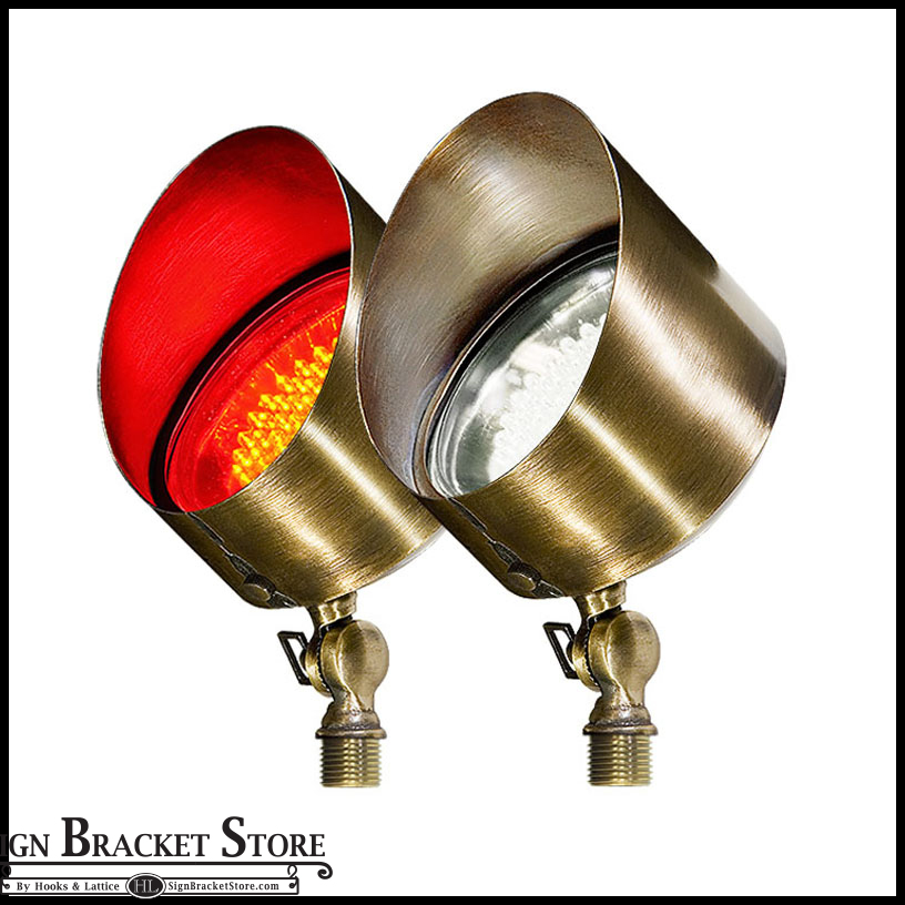 Brass Directional LED Spot Light With Hood