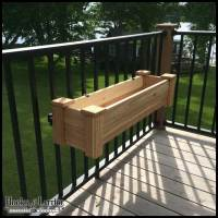 Rail Planter Box Bracket Adjustable Pair