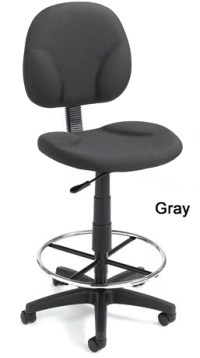 """Adjustable Foot Ring Stool w/ 26""""- 31"""" Seat Height"""
