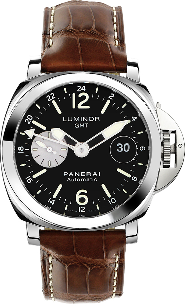 Silver Strap Watches For Men Officine Panerai | Luminor Gmt Pam00088 | Authenticwatches.com