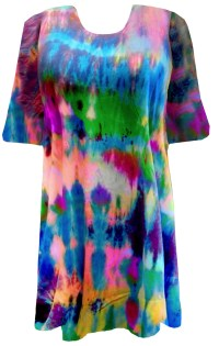 SALE! Green Blue Purple Pink Tie Dye Plus Size T