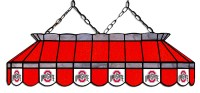 """Ohio State Buckeyes 40"""" Stained Glass Pool Table Light"""