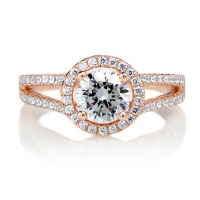 The gallery for --> Round Cut Halo Engagement Rings Side View