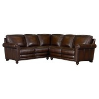 Hamilton Leather Sectional Sofa by Bassett Furniture ...