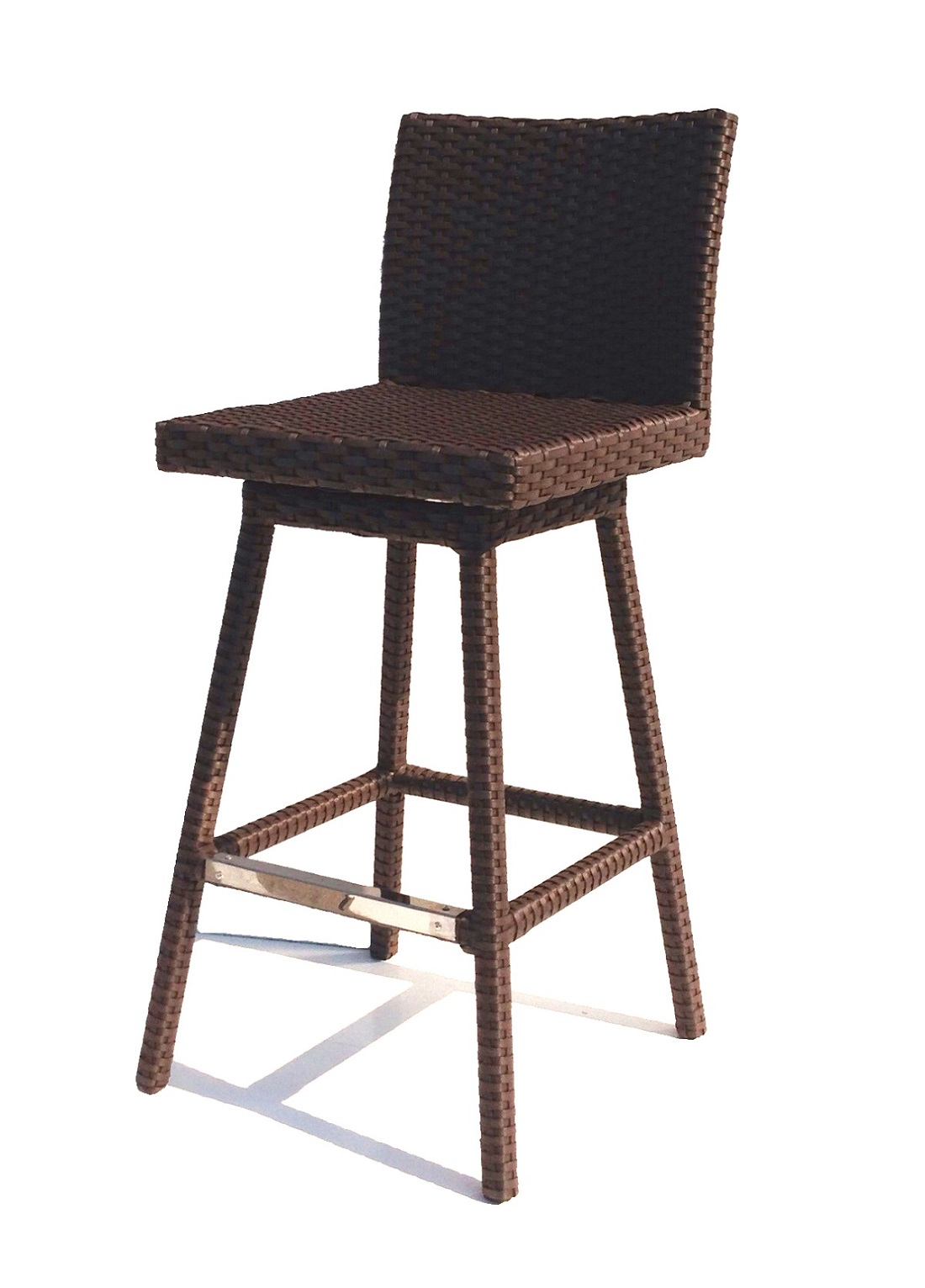 Outside Bar Chairs Sonoma Outdoor Wicker Swivel Barstool