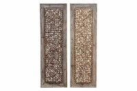 Buy Wood Rattan Wall Dcor, 2 Asst, 38 Inch X 12 Inch At ...
