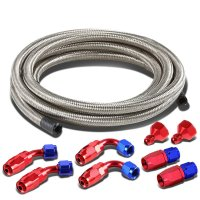 "Fuel Tank Gas Cell 6AN to 10AN Fittings+12"" Nylon Braided ..."