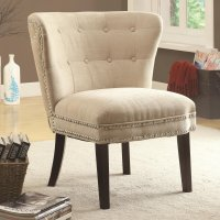 Coaster 902227 Beige Fabric Accent Chair - Steal-A-Sofa ...