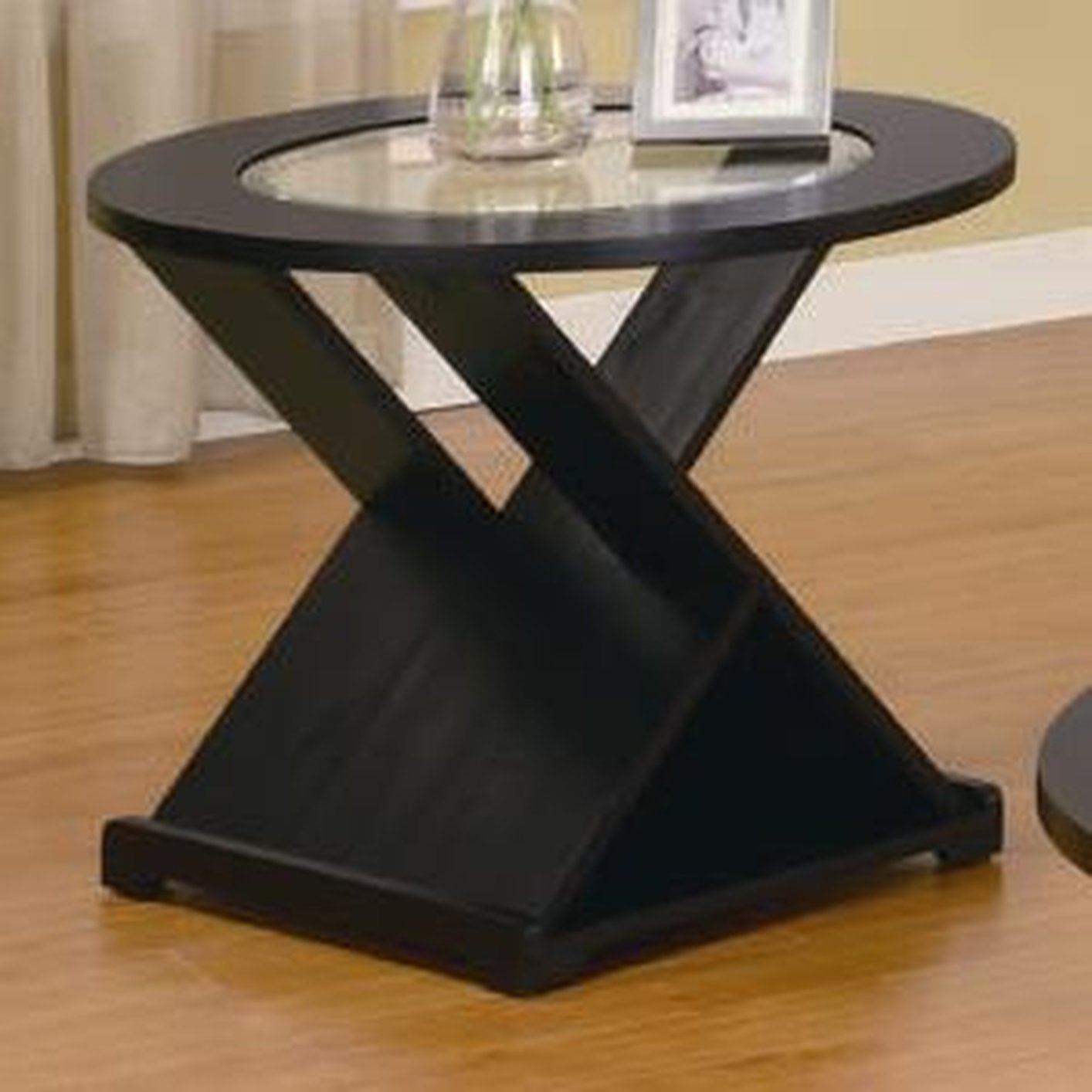 Coffee Table With Black Glass Top Coaster 701501 Black Glass Coffee Table Set Steal A Sofa