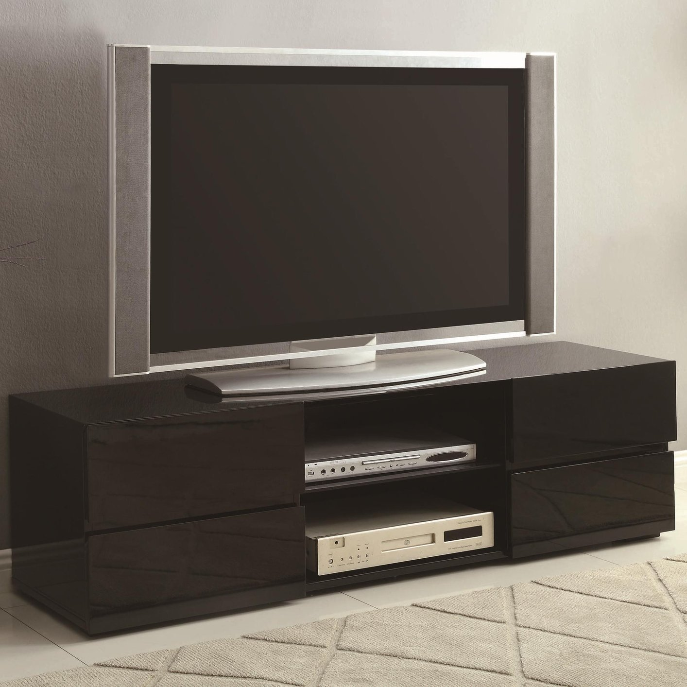 Tv Stand Coaster 700841 Black Wood Tv Stand Steal A Sofa