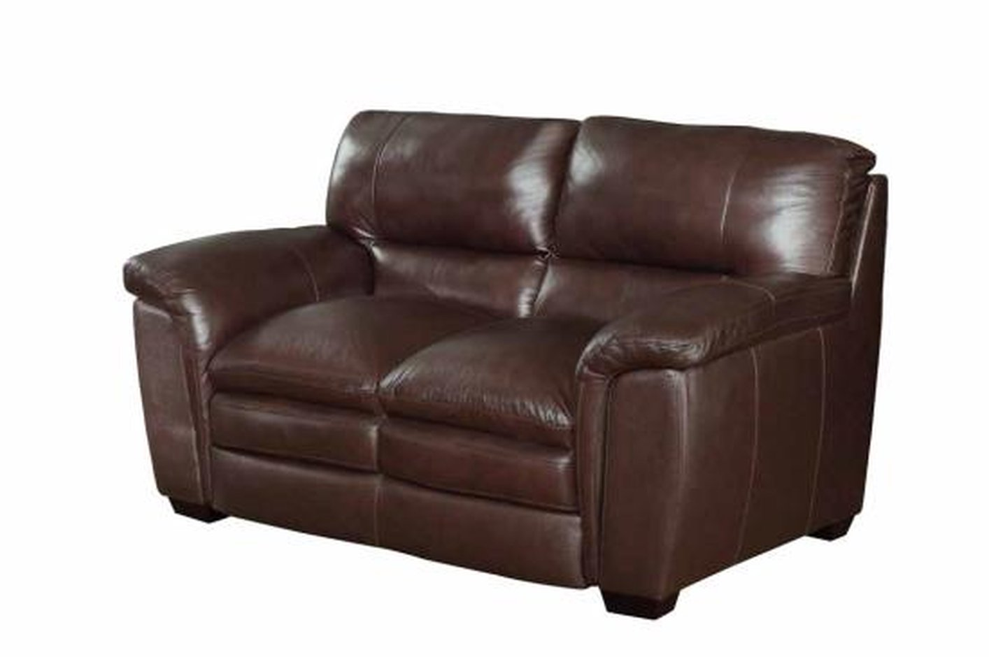 Leather Loveseat Coaster Burton 503972 Brown Leather Loveseat Steal A