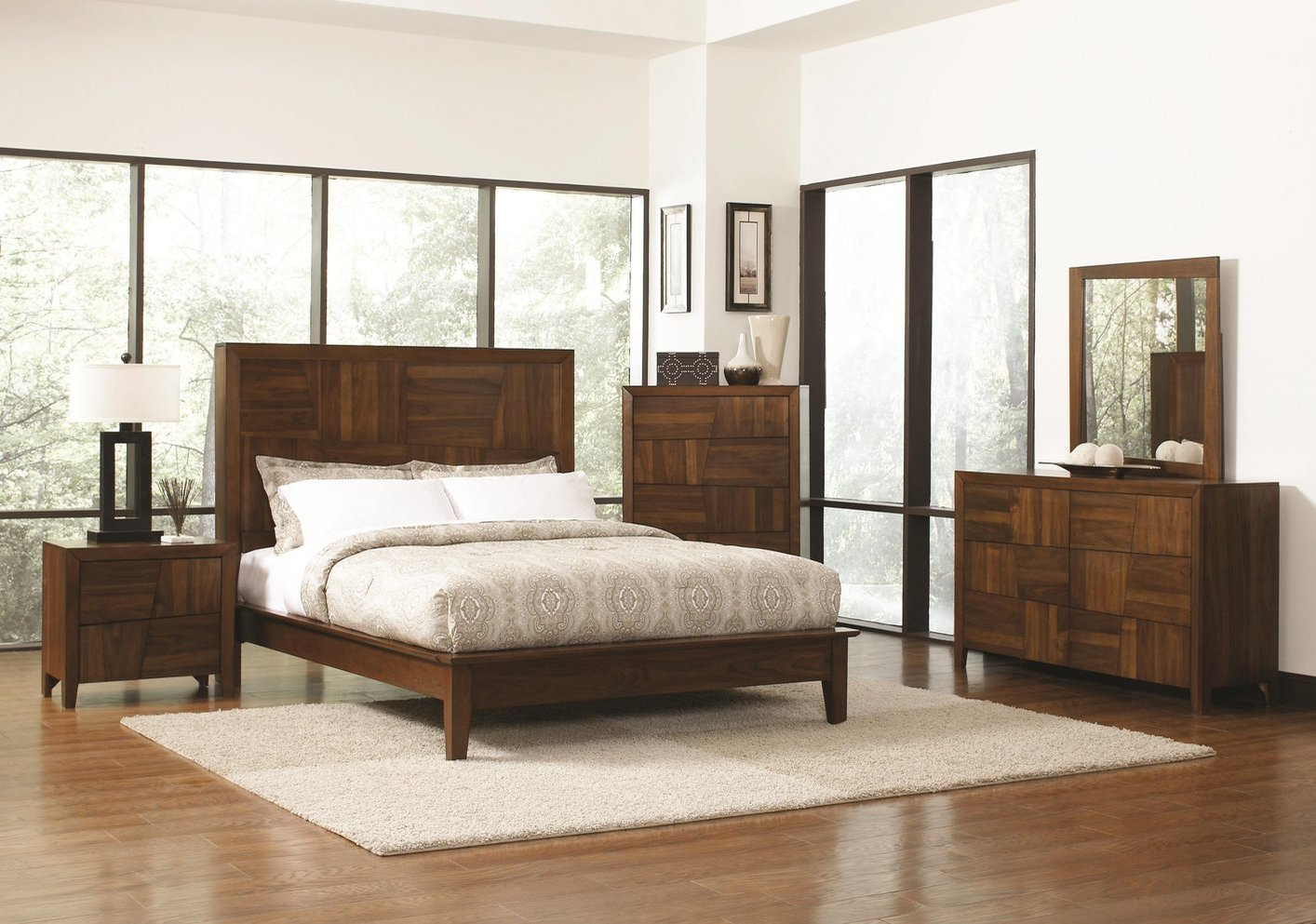 Tappeto Mondrian Coaster 202841ke Brown Eastern King Size Wood Bed Steal