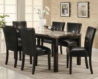 Coaster Carter 102260 102262 Brown Wood And Marble Dining ...